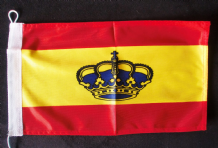 NAUTICAL FLAG : SPAIN WITH ROYAL CROWN 30cm x 20cm